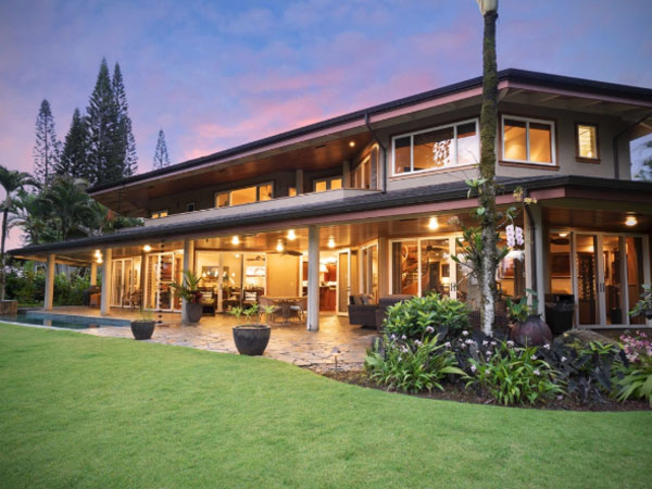 Mahina Place vacation home rental Princeville Kauai, Hawaii